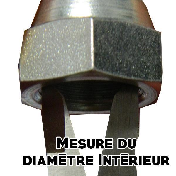 Mesure du diamètre intérieur embout