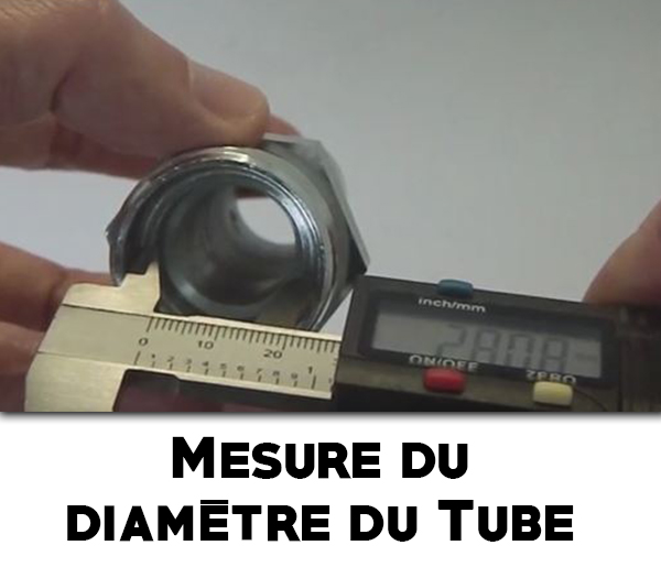 Mesure du diamètre du tube